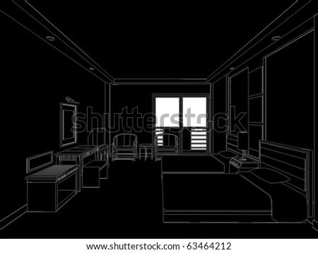 hotel room vector 01