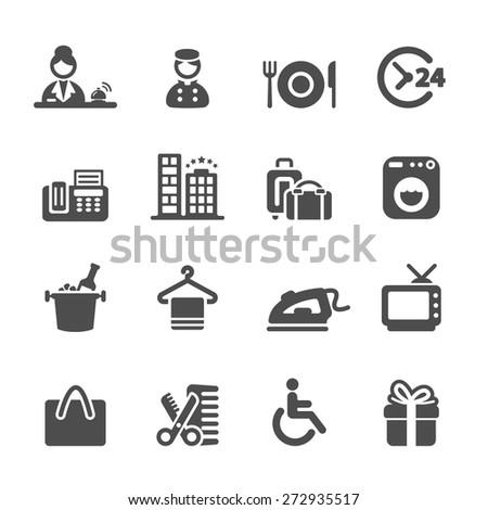 hotel service icon set 9