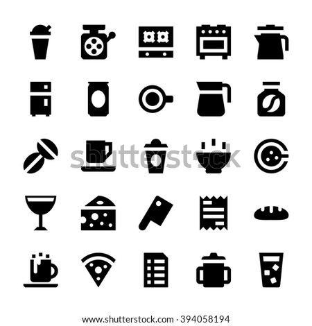 Royalty Free Coffee Coffee Shop Line Icon Set