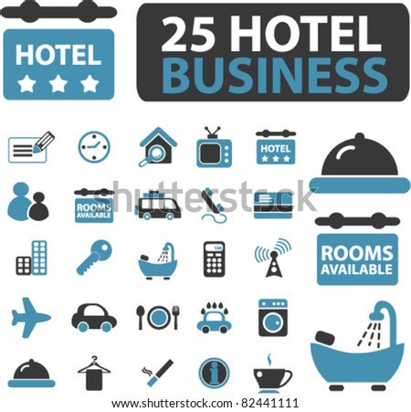 hotel travel business icons