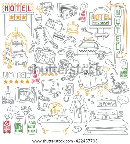 hotel vector drawings