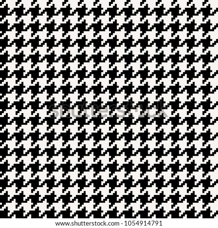 Houndstooth seamless pattern black and white. Vector illustration.