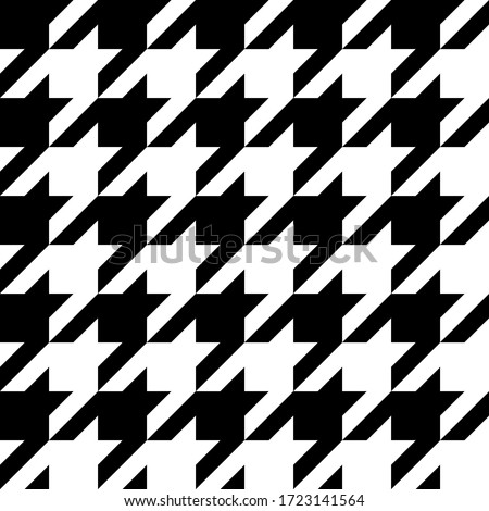 Houndstooth seamless pattern. Vector illustration Сток-фото ©