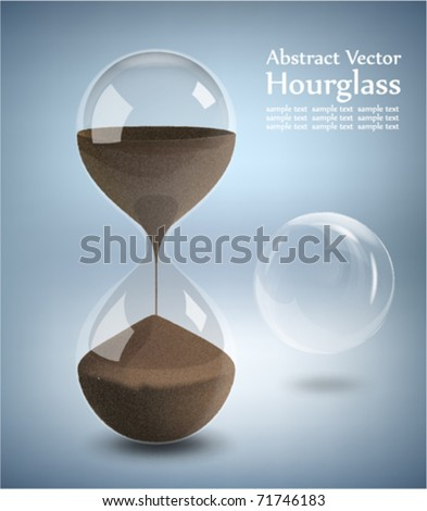 Hourglass - Grains of sand falling down