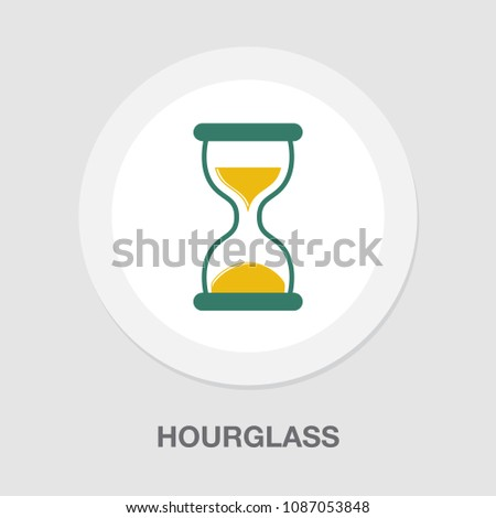 Hourglass icon, sand time clock