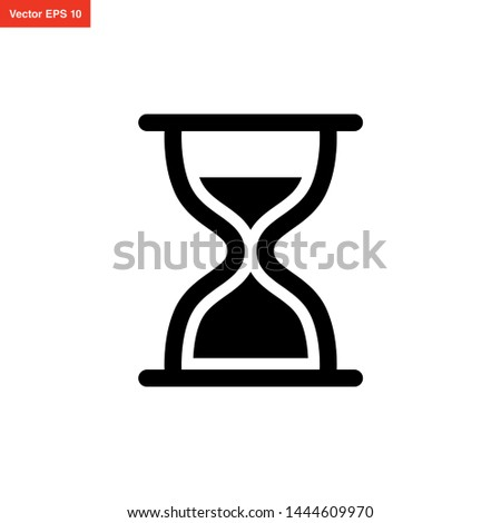 hourglass icon vector design template