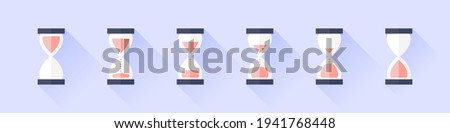 Hourglass icon. Vintage hourglass. Time Symbol. Clock Sign. Vector illustration