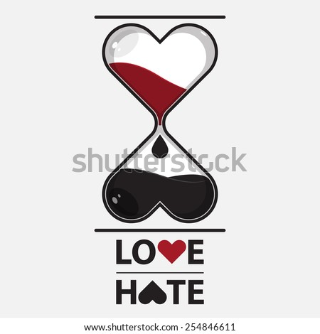 hourglass of love and hate