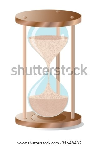 Hourglass, realistic vector illustration