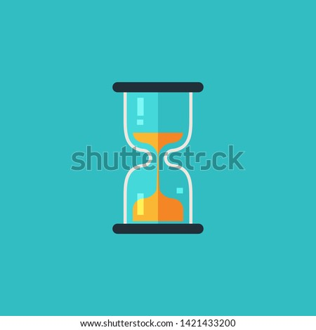 Hourglass, sandglass, time icon. Vector illustration. Isolated flat icon.