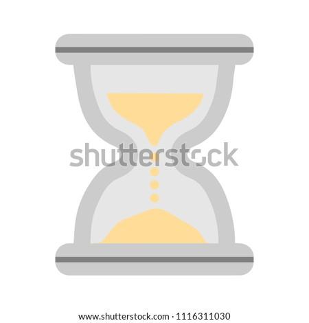Hourglass sign icon. Sandglass illustration - Hourglass illustration isolated