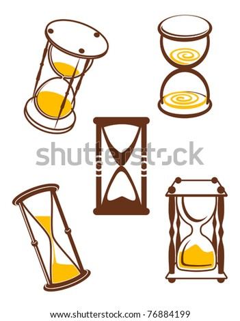 Hourglass symbols and icons for time concept and design or logo template. Jpeg version also available in gallery