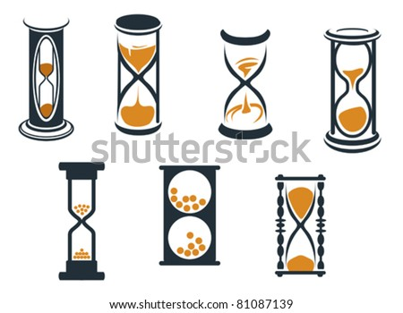 Hourglass symbols and icons for time concept and design, such a logo. Jpeg version also available in gallery