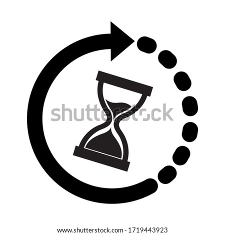 Hourglass Time Icon - Vector Illustration - Isolated On White Background Foto stock ©