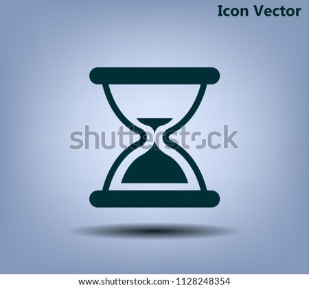 Hourglass, vector illustration.