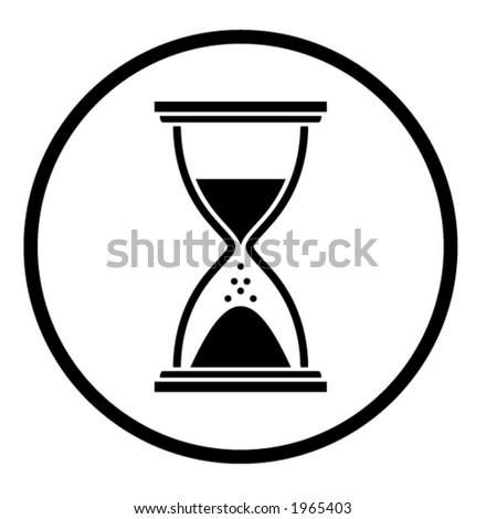 Hourglass. Vector illustration