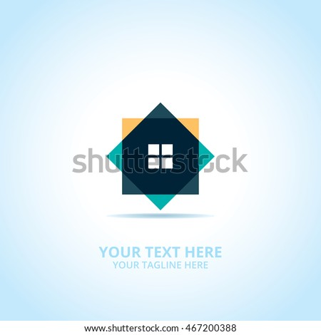 house abstract emblem  design