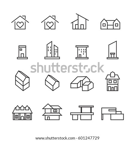 House and home icons set,Vector
