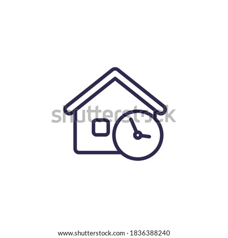 house and time line icon Foto stock ©
