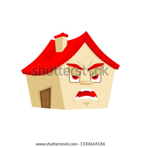 house angry emotion isolated