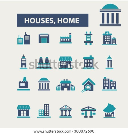 house, building icons