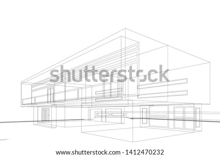house building sketch
