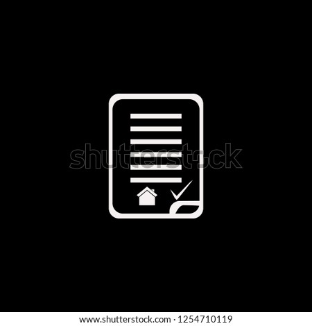 house buying contract vector icon. flat house buying contract design. house buying contract illustration for graphic