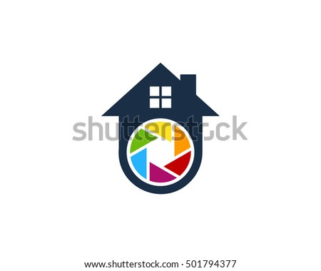 house camera logo design