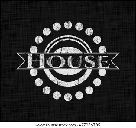 House chalkboard emblem