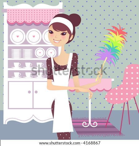 Cleaning house Clip Art Royalty Free. 2746 cleaning house clipart