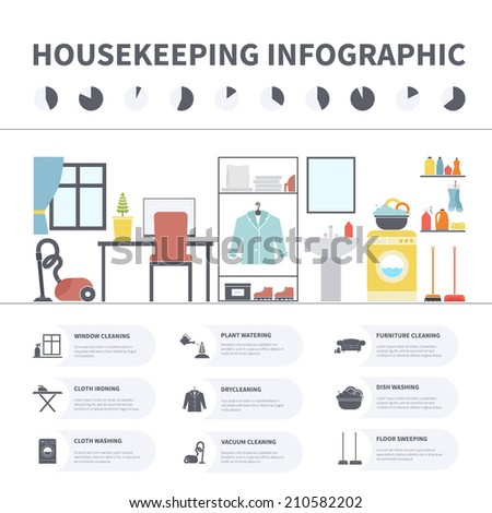 House cleaning infographic made in vector