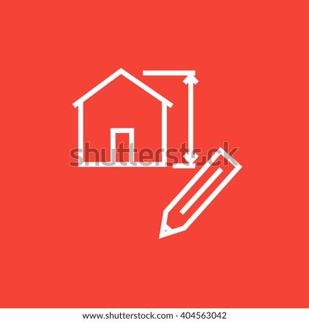 House design line icon.