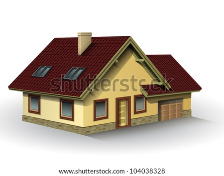 House, detailed vector illustration.