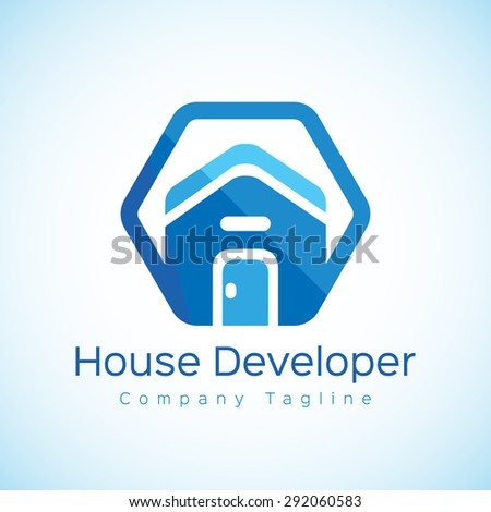 Housing Developments House Developer Logo Stock