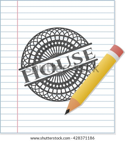 House draw (pencil strokes)