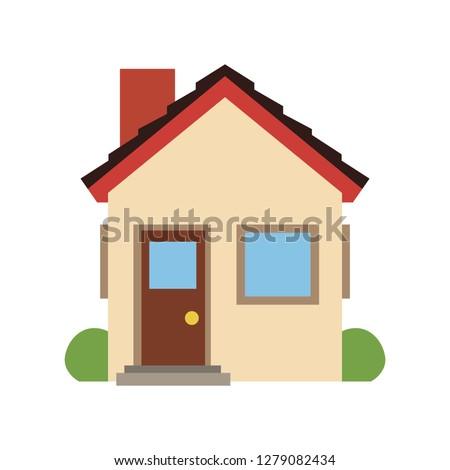 House emoji vector flat design