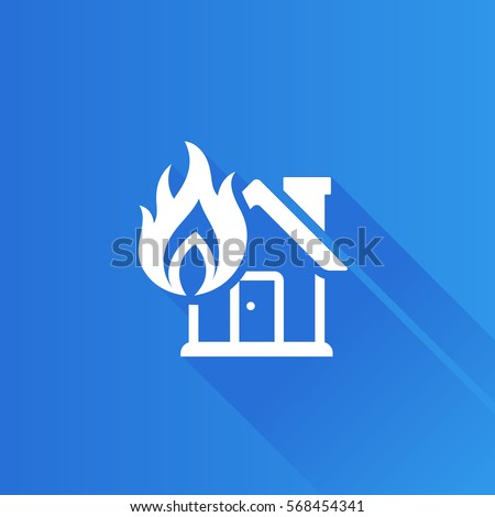 house fire icon in metro user