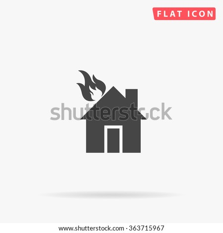 house fire icon vector house