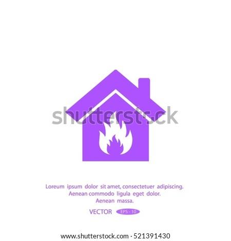 house fire vector