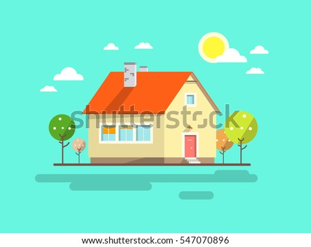 house flat design urban