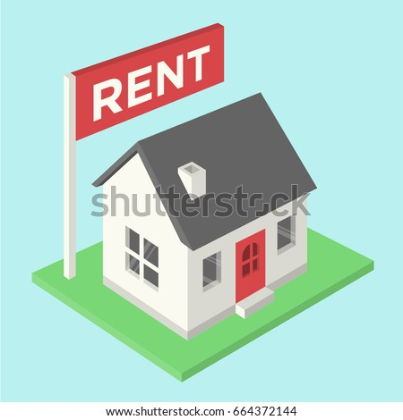 House for rent isometric
