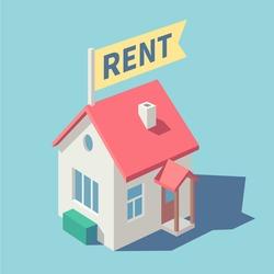 House for rent. Vector illustration.