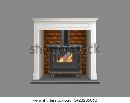 house gas powered fireplace