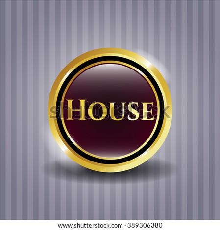 House golden emblem or badge