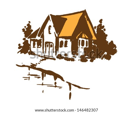 house hand drawn vector
