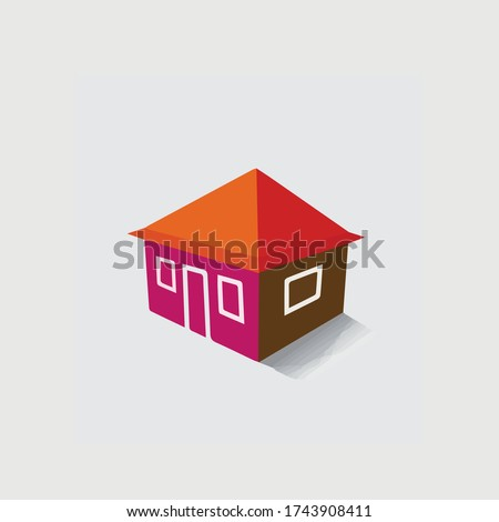 House(home) or hut icon for real estate-vector graphic. The illustration is also a icon for buying & selling property, residential accommodations, travel & tourism, camping, hiking & adventure, etc