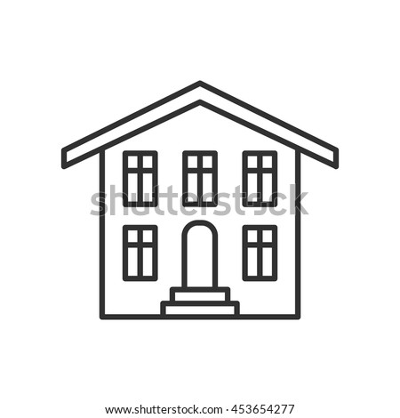 house iconbuilding thin line