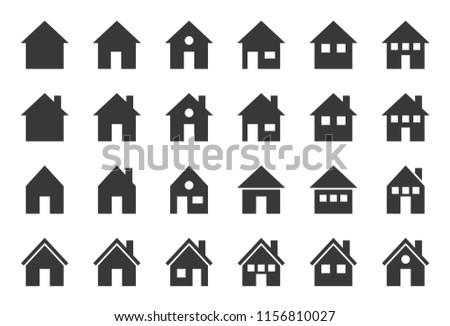 house icon, glyph design pixel perfect
