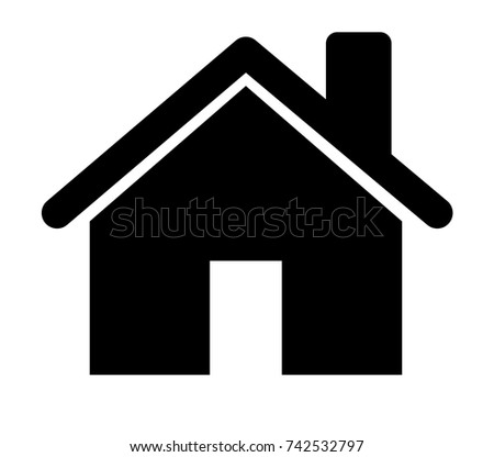 house icon illustration isolated vector , home icon symbol