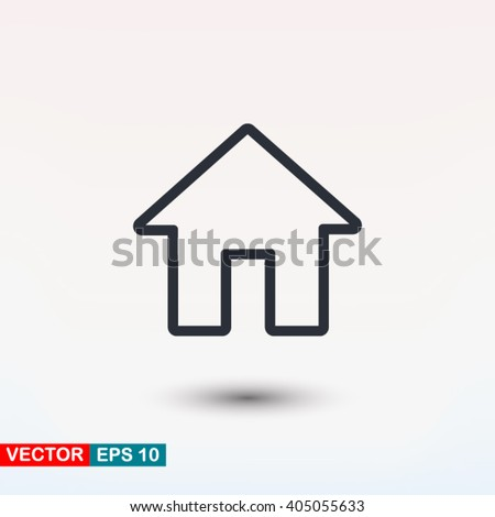 House icon, vector